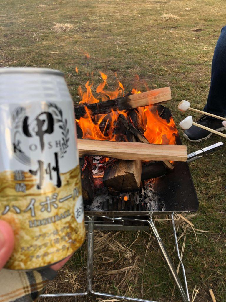 お酒と焚き火
